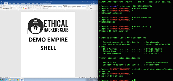 Ms Word Built In Feature Dde Malware Execution And Attacks Demo